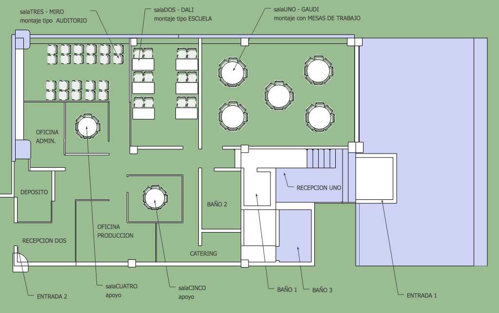 Plano General Espacios en Blanco